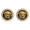 Vintage Gianni Versace Earrings of Medusa in 18 Karat Gold and Diamonds, Italian circa 1980. - image 1