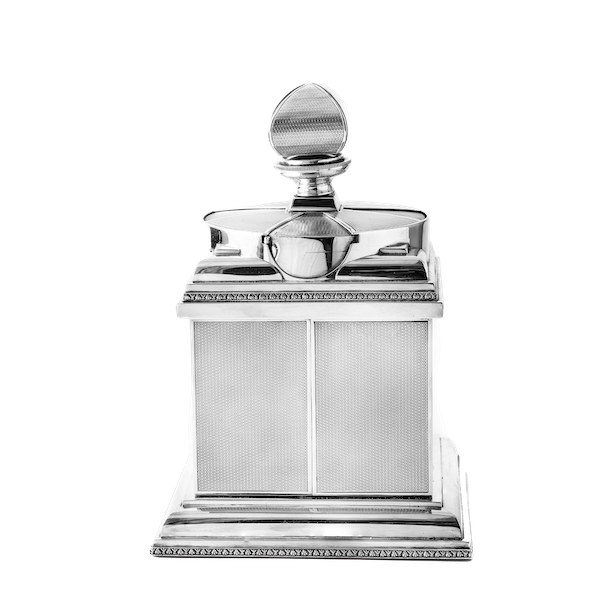 Magnificent Art Deco Silver Cigarette Box with elegant swivel action by ASPREY - image 1