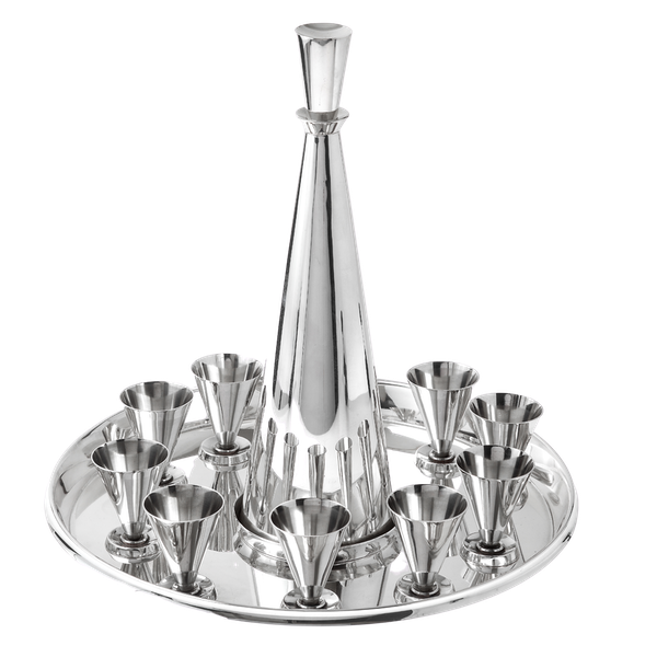 Fabulous silver decanter set by Christoffersen - image 1