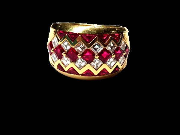 Ruby and diamond dress ring  DBGEMS - image 1
