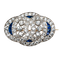 Art Deco Sapphire and Diamond Brooch  DBGEMS - image 1