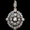 Victorian Cushion Cut Diamond Pendant  DBGEMS - image 1