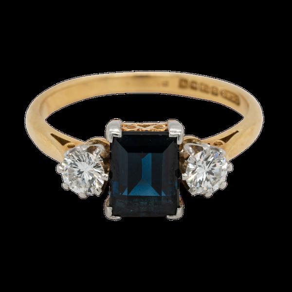 Garrards Sapphire and Diamond Engagement Ring  DBGEMS - image 1