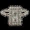Art deco square cushion cut diamond ring  DBGEMS - image 1