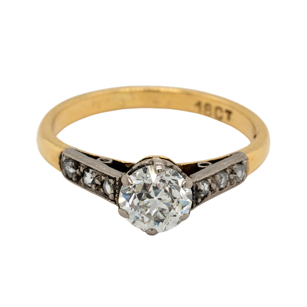 Antique Diamond Solitaire Engagement Ring  DBGEMS - image 1