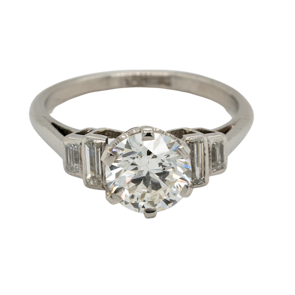art deco 1.16ct diamond engagement ring - image 1