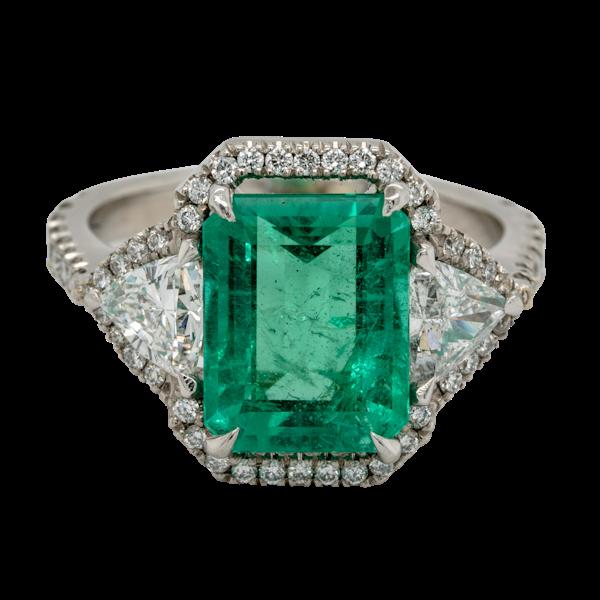 Emerald and Diamond Ring  DBGEMS - image 1
