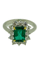 18K white gold 1.92ct Natural Emerald and 0.96ct Diamond Ring - image 1
