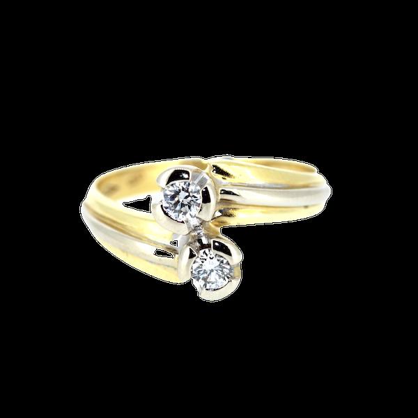 Diamond Twist Gold Ring. S.Greenstein - image 1