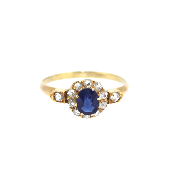 Old Cut Sapphire And Diamond Ring. S.Greenstein - image 1