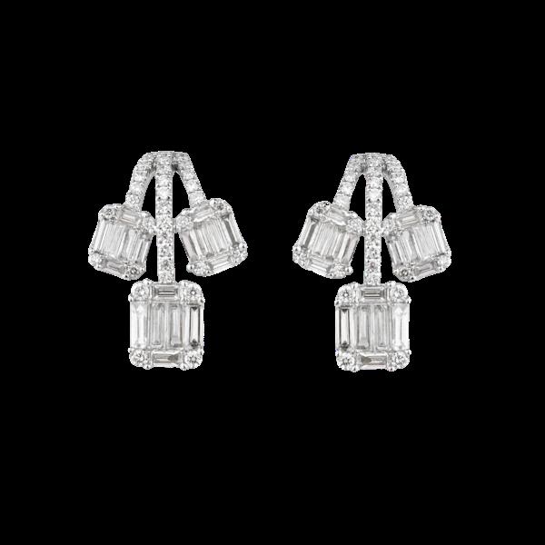 Three branches diamond earrings - image 1