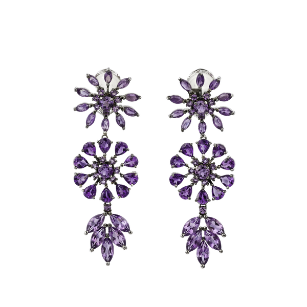 Pendant amethyst earrings - image 1