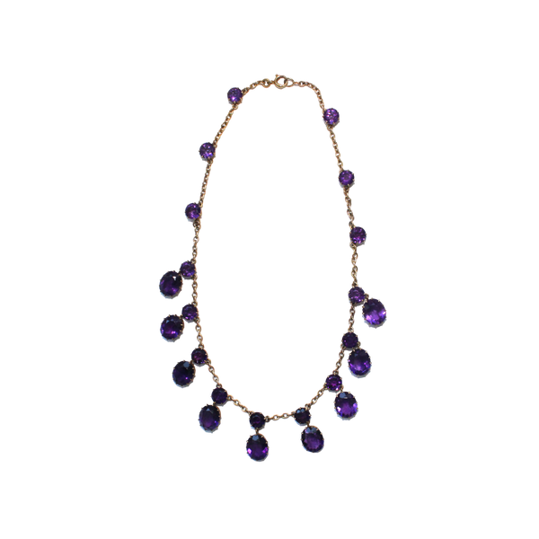 Victorian 18ct amethyst necklace - image 1