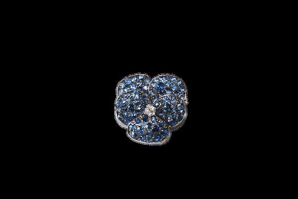 Montana sapphire pansy brooch - image 1