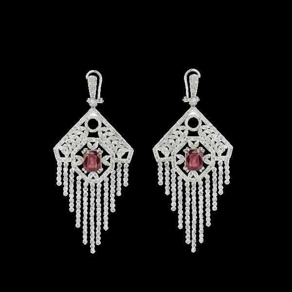 """""""India"""" style diamonds earrings - image 1"""
