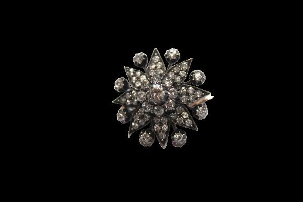 Victorian diamond star brooch - image 1