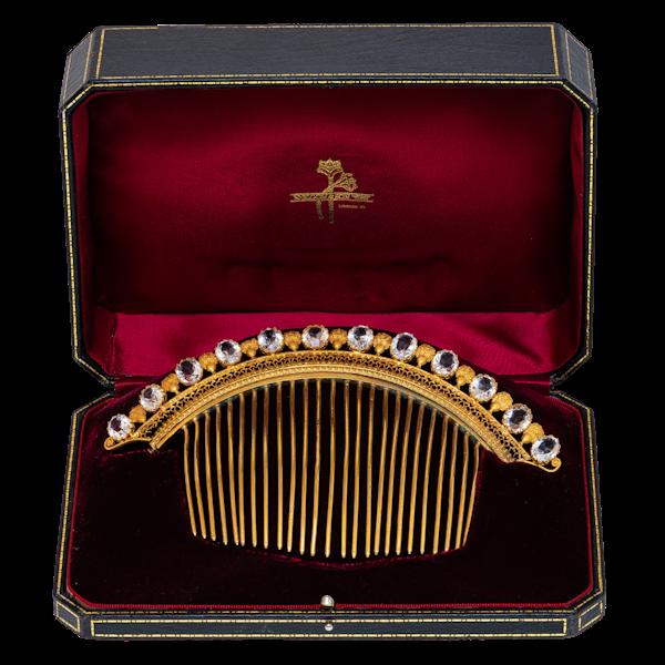 Paste and ormolu boxed tiara - image 1