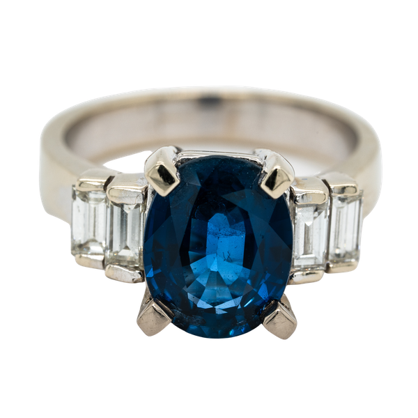 Sapphire and diamond ring - image 1
