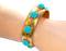 Pavé turquoise bangle - image 1