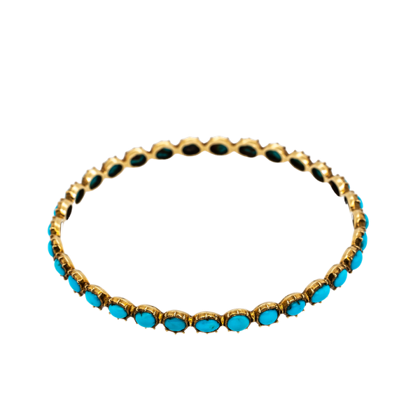 Victorian Turquoise bangle in 20/22 ct gold - image 1