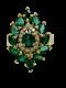 18K yellow gold Natural Emerald and Diamond Ring - image 1