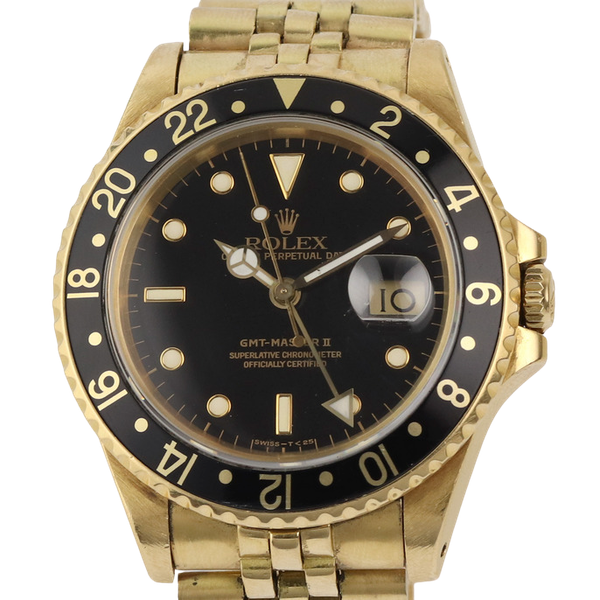 Rolex GMT-Master II, 18K Yellow Gold, 16718 - image 1