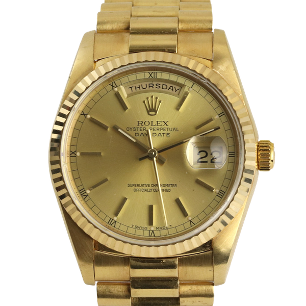 Rolex Day-Date,36mm, President, 18238, 18K Yellow Gold & Rolex Box - image 1