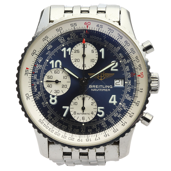 Breitling Old Navitimer Blue Dial With Papers - image 1