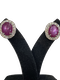 18K white gold 7.57ct Natural Cabochon Ruby and 0.93ct Diamond Earrings - image 1