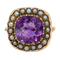 Amethyst and Pearl ring - image 1