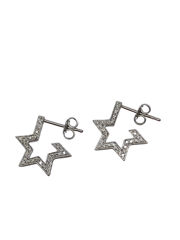 18K white gold 0.50ct Diamond Earrings - image 1