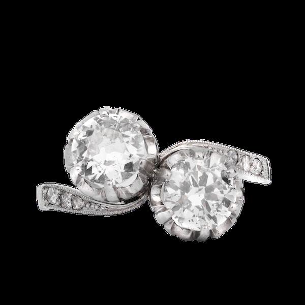 Platinum and Diamond Engagement Ring - image 1