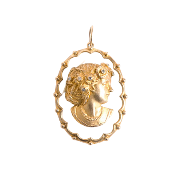Vintage Cameo Pendant - image 1