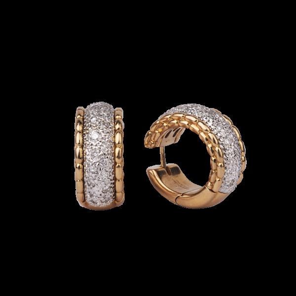 Gold Diamond Earrings - image 1