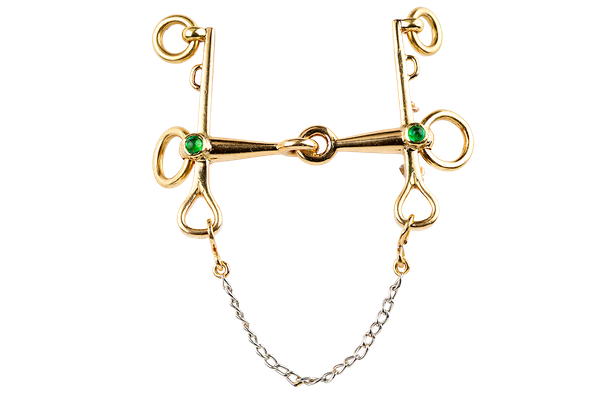 Vintage Equestrian Brooch by Mellerio of Paris, Driving Bit in 18 Karat Gold, French circa 1950. - image 1