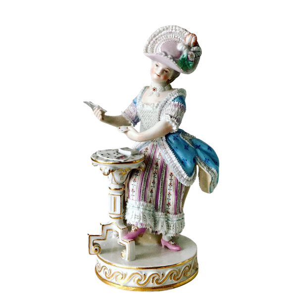 Meissen figure of card player - image 1