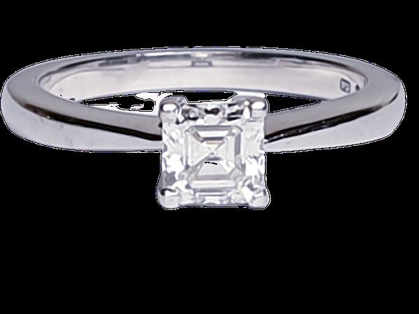 Asscher Cut Diamond Solitaire Diamond Engagement Ring  DBGEMS - image 1