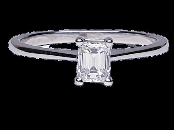Single Stone Emerald Cut Diamond Ring 3764  DBGEMS - image 1