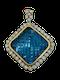 18K yellow gold Diamond and Topaz Pendant - image 1