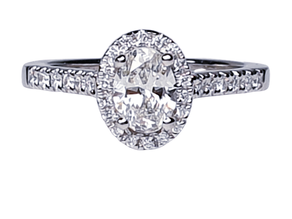 Oval diamond engagement ring  DBGEMS - image 1