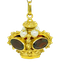 18K yellow gold Garnet and Pearl Pendant - image 1