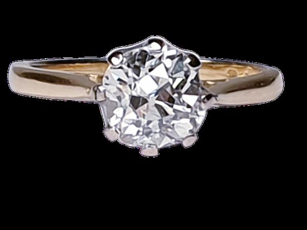 1.56cts Cushion Cut Diamond Engagement Ring  DBGEMS - image 1