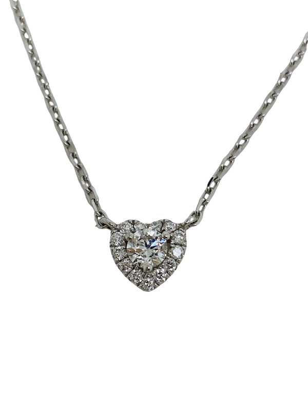 18K white gold Diamond Pendant - image 1