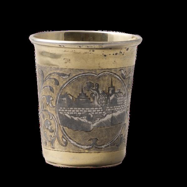 Moscow 1838, Russian Silver Niello Beaker, SHAPIRO & Co - image 1