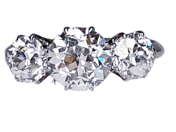 Art Deco Trilogy Diamond Ring - image 1