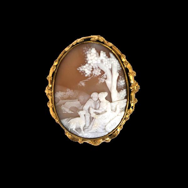 Antique Cameo Brooch - image 1