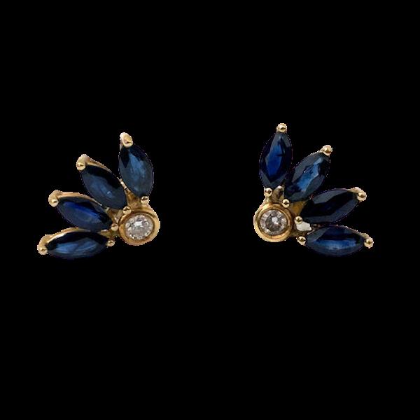 Diamond and Sapphire Earrings - image 1