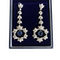 Art Deco Diamond and Sapphire Drop Earrings - image 1