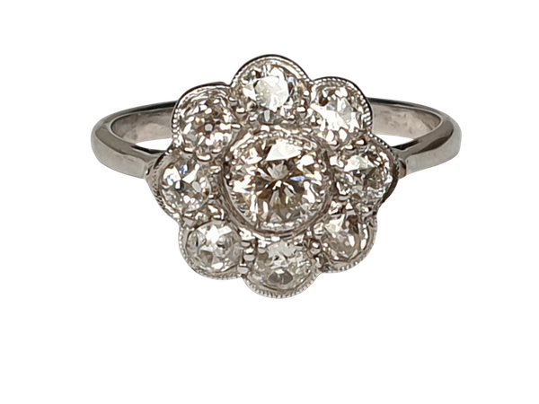 Art Deco Diamond Cluster Ring  DBGEMS - image 1