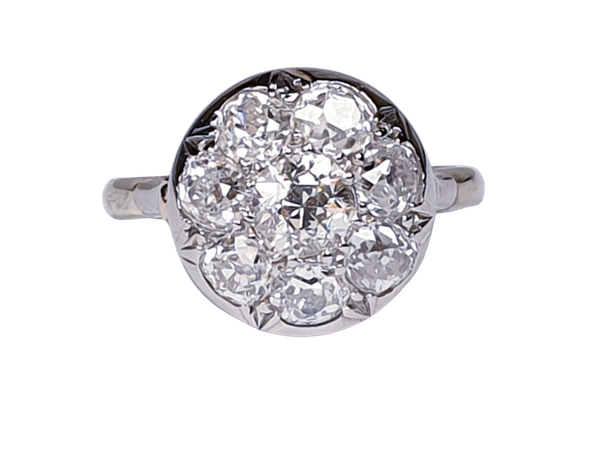 Antique Diamond Cluster Ring  DBGEMS - image 1